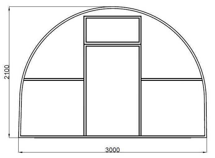 Теплица из поликарбоната «Дачная-НОРД» 3000
