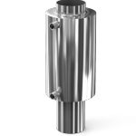 Регистр-теплообменник на дымоход 115 мм